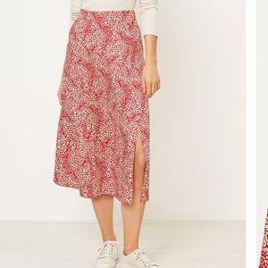 NWOT Loft Midi Skirt